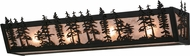 Meyda Tiffany 19134 Tall Pines Country Black / Silver Mica Bathroom Lighting