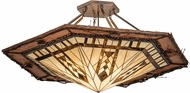 Meyda Tiffany 191544 Sonoma Tiffany Brown Ceiling Light
