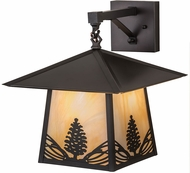 Meyda Tiffany 191801 Stillwater Mountain Pine Bai Craftsman Brown Wall Sconce Lighting
