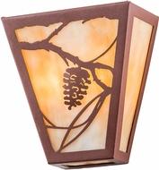 Meyda Tiffany 191965 Whispering Pines Country Beige Rust Lighting Wall Sconce