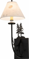 Meyda Tiffany 192592 Black Satin Wrought Iron Wall Light Sconce