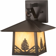 Meyda Tiffany 192760 Stillwater Mountain Pine Bai Craftsman Brown Wall Light Sconce