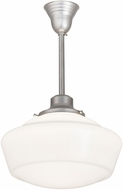 Meyda Tiffany 193224 Revival Schoolhouse Modern White Glass Nickel Powdercoat Drop Lighting