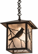 Meyda Tiffany 193400 Seneca Song Bird Zasdy Craftsman Brown Drop Ceiling Lighting