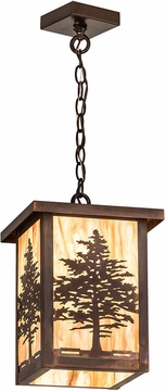 Meyda Tiffany 194234 Tamarack Travertine Idalight Vintage Copper Outdoor Ceiling Pendant Light