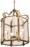 Meyda Tiffany 194570 Ganser Lantern Traditional Brass Foyer Lighting
