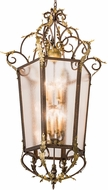 Meyda Tiffany 194627 Acanthus Traditional Rainstone Idalight Light Tobacco / Antique Gold Foyer Light Fixture