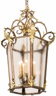 Meyda Tiffany 194644 Citadel Traditional Rainstone Idalight Light Tobacco / Antique Gold Foyer Lighting Fixture