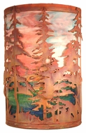 Meyda Tiffany 19735 Tall Pines Rustic Vintage Copper Finish 18 Tall Wall Sconce Lighting