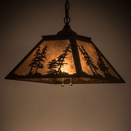 Meyda Tiffany 21017 Tall Pines Timeless Bronze / Silver Mica Pendant Light