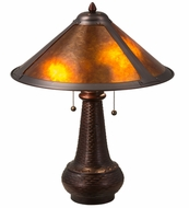 Meyda Tiffany 22210 Van Erp Amber Mica Amber Mica Table Lighting