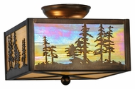 Meyda Tiffany 22864 Tall Pines Antique Copper Finish 8  Tall Flush Mount Lighting