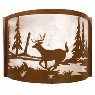 Meyda Tiffany 23833 Deer Creek Country Rust / Silver Mica Wall Lighting Sconce