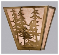 Meyda Tiffany 23937 Tall Pines Antique Copper Finish 13 Wide Wall Light Sconce