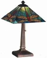 Meyda Tiffany 26290 Prairie Dragonfly Tiffany Pbag Flame Orange Table Lamp