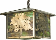 Meyda Tiffany 27048 Oak Tree Rustic Pendant Lighting Fixture