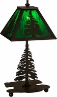 Meyda Tiffany 27107 Tall Pines Rustic Black Table Top Lamp