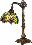 Meyda Tiffany 27167 Tiffany Honey Locust Tiffany Green / Blue Side Table Lamp