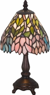 Meyda Tiffany 27294 Wisteria Tiffany Beige Pink Purple Table Lamp