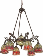 Meyda Tiffany 27382 Red Rosebud Tiffany Chandelier Light