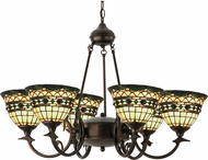 Meyda Tiffany 27402 Tiffany Roman Tiffany Beige Green Chandelier Light