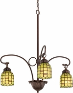 Meyda Tiffany 27413 Sea Scallop Tiffany Mahogany Bronze Mini Chandelier Light