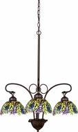 Meyda Tiffany 27415 Tiffany Honey Locust Tiffany Mahogany Bronze Mini Ceiling Chandelier