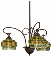 Meyda Tiffany 27420 Jeweled Basket Tiffany Mahogany Bronze Mini Chandelier Light