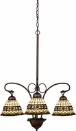 Meyda Tiffany 27421 Tiffany Roman Tiffany Beige Green Mini Chandelier Lighting