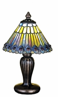 Meyda Tiffany 27560 Tiffany Jeweled Peacock Tiffany 8  Wide Table Lighting