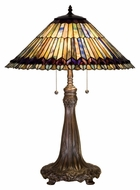 Meyda Tiffany 27562 Tiffany Jeweled Peacock Tiffany 27  Tall Lighting Table Lamp