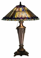 Meyda Tiffany 27563 Tiffany Jeweled Peacock Tiffany 17  Wide Table Lamp Lighting