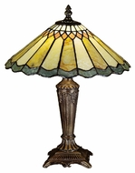 Meyda Tiffany 27569 Jadestone Carousel Tiffany 12  Wide Table Lamp