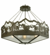 Meyda Tiffany 28985 Wild Horses Country Timeless Bronze Finish 48  Wide Chandelier Light