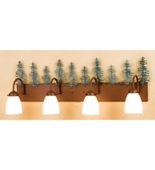 Meyda Tiffany 29486 Tall Pines Rustic Rust Finish 10.5  Tall Bath Lighting