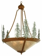Meyda Tiffany 29543 Tall Pines Rustic Rust Finish 68.5  Tall Hanging Chandelier