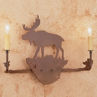 Meyda Tiffany 29551 Moose Country Rust Wall Sconce Lighting