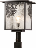 Meyda Tiffany 30388 Hyde Park Winter Pine Outdoor Post Lighting