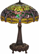 Meyda Tiffany 31112 Tiffany Hanginghead Dragonfly Tiffany Purple / Blue Table Light