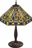 Meyda Tiffany 31117 Tiffany Elizabethan Tiffany Purple / Blue Table Lighting