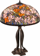 Meyda Tiffany 31146 Tiffany Magnolia Tiffany Purple / Blue / Pink / Orange Table Lamp Lighting