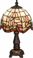 Meyda Tiffany 31210 Roseborder Tiffany Pink Table Top Lamp