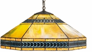 Meyda Tiffany 31226 Cambridge Tiffany Orange Purple / Blue Ceiling Light Pendant