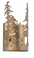 Meyda Tiffany 31252 Tall Pines Country Antique Copper Finish 11 Tall Sconce Lighting