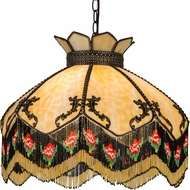 Meyda Tiffany 31316 Isabella Tiffany Beige Hanging Lamp