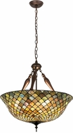 Meyda Tiffany 31830 Tiffany Fishscale Tiffany Green / Blue Drop Lighting Fixture
