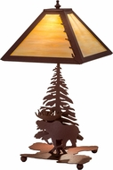 Meyda Tiffany 32516 Moose on the Loose Country Rust Table Lighting