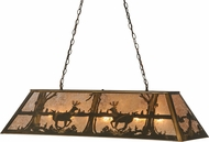 Meyda Tiffany 37647 Deer at Lake Country Antique Copper / Silver Mica Kitchen Island Light Fixture