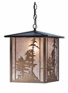Meyda Tiffany 38629 Tall Pines Antique Copper Finish 50  Tall Foyer Pendant Light