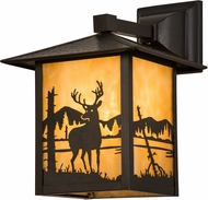 Meyda Tiffany 39870 Seneca Deer at Lake Country Beige Craftsman Wall Light Sconce